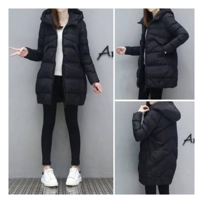 ダウンジャケット ダウンコート アウター レディース 30代 40代 50代 ロング ミドル丈 秋冬 大きいサイズ フード付き 暖か 防寒 着やせ シンプル 大人 ゆったり