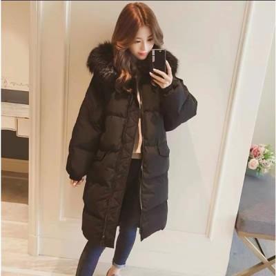ダウンコート ダウンジャケット 中綿コート 中綿ジャケット アウター キルティングコート ファーフード付き 膝丈 無地 シンプル 暖かい 防寒 防風 厚手 大きいサ