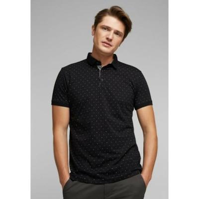 エスプリ メンズ ファッション Polo shirt - black