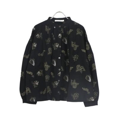 【サンバレー】 綿麻総柄刺繍スタンドシャツ レディース その他 M SUN VALLEY