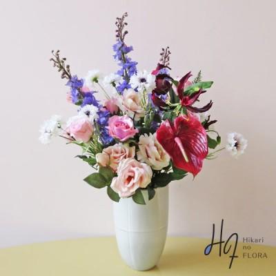 光触媒 マイヤ アーティフィシャルフラワー インテリア 個性的 バラ アンスリウム 高級造花 アレンジ 開院 開店 造花