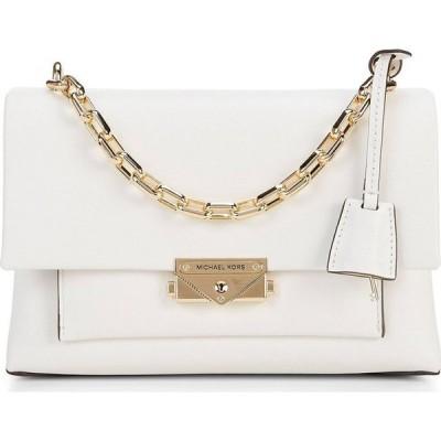 マイケル コース Michael Kors レディース ショルダーバッグ バッグ MICHAEL Cece Medium Chain Push Lock Shoulder Bag Optic White