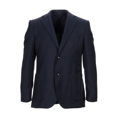 LUBIAM テーラードジャケット ダークブルー 48 ウール 100% テーラードジャケット