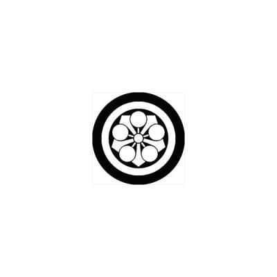家紋シール 丸に剣梅鉢紋 直径24cm 丸型 白紋 KS24M-0523W