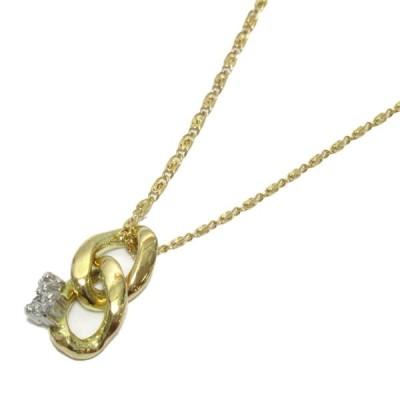 ジュエリー ダイヤモンド ネックレス K18YG(750) イエローゴールドxダイヤモンド/石目なし  ランクA