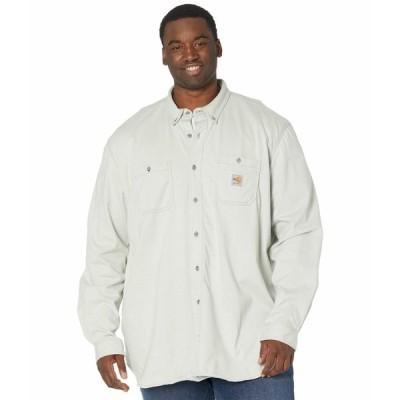カーハート シャツ トップス メンズ Big & Tall Flame-Resistant Force Cotton Hybrid Shirt Light Gray