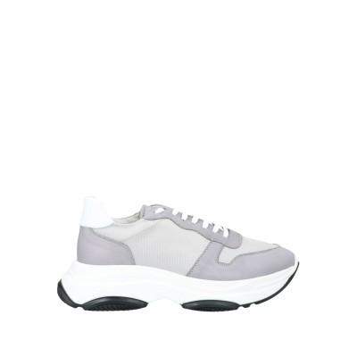 EXIBIT スニーカー&テニスシューズ(ローカット) グレー 41 革 / 紡績繊維 スニーカー&テニスシューズ(ローカット)