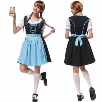 ハロウィン ビールガール 民族衣装 ディアンドル チロリアン ドイツ メイド 大きいサイズ 仮装 コスプレ衣装