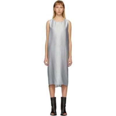 アンドゥムルメステール Ann Demeulemeester レディース ワンピース ワンピース・ドレス SSENSE Exclusive Silver Dimness Dress Aqua