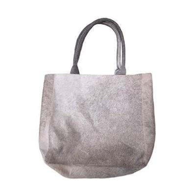 Luxurious Tote Bag DELIA in Elegant Grey Cowhide並行輸入品 送料無料