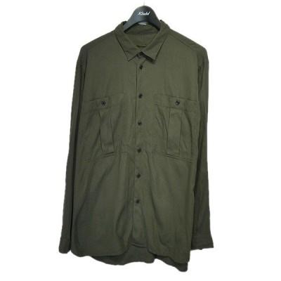 KLASICA 2020SS「Big Pocket Regular Shirts」レギュラーカラー長袖シャツ グリーン サイズ:3 (栄店) 2012