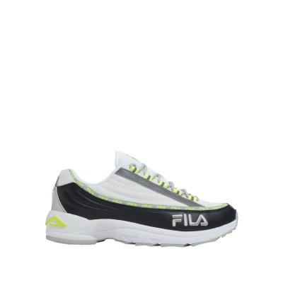 FILA スニーカー&テニスシューズ(ローカット) ホワイト 42 革 / 紡績繊維 スニーカー&テニスシューズ(ローカット)