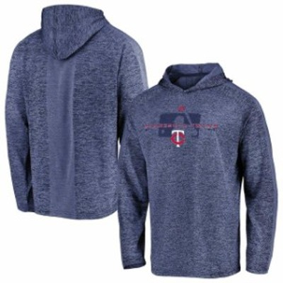 Majestic マジェスティック スポーツ用品  Majestic Minnesota Twins Navy Authentic Collection Ultra-Light Cool Base Pullover Hoodie