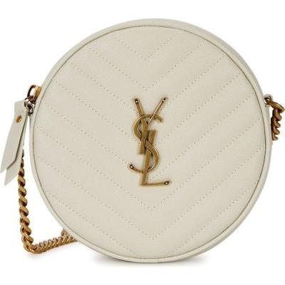 イヴ サンローラン Saint Laurent レディース ショルダーバッグ バッグ jade white leather cross-body bag White