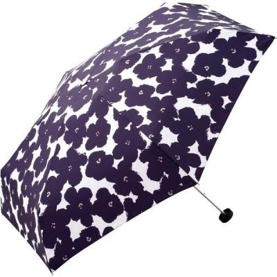折りたたみ傘 ハナプリント ネイビー