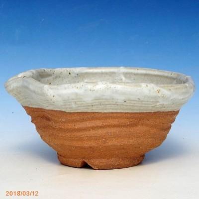 信楽焼 植木鉢 灰釉ひねり 5号(外径16cm 高さ8cm)