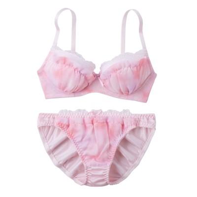 ぼかしスノープリントブラジャー・ショーツセット(C80/L) (ブラジャー&ショーツセット)Bras & Panties