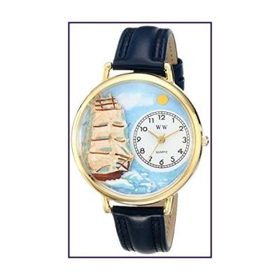 航海 紺レザー ゴールドフレーム時計 #G0810001