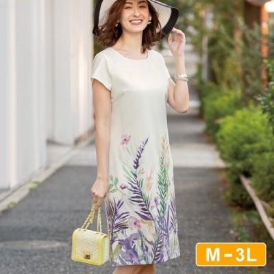 Ranan 【M~3L】パネル柄ゆるタイトワンピース  M レディース