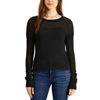 バースリー レディース ニット・セーター アウター Pointelle Cropped Pullover Sweater