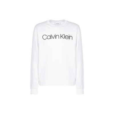 カルバン クライン CALVIN KLEIN スウェットシャツ ホワイト XXL オーガニックコットン 100% スウェットシャツ