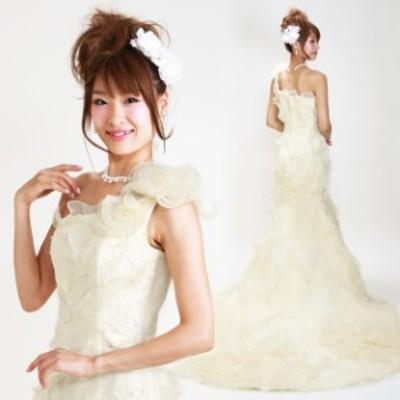 ウェディングドレス レンタル 9号 マーメイドライン ウエディングドレス ウェディング ドレス 披露宴 6313 送料無料