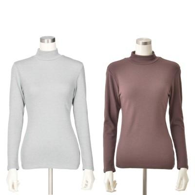 BVD極厚10分袖ハイネックシャツ カラーが選べる2点セットB.V.D.Ladies(ビーヴイディーレディース)No.647543 通販 - QVCジャパン