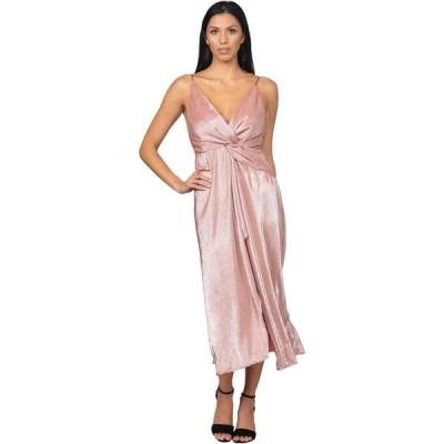 ベベ Bebe レディース パーティードレス ワンピース・ドレス Twist Front High Slit Gown Blush