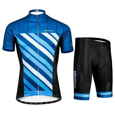 サイクルジャージ メンズ 自転車ウエア 半袖上下セット サイクリングウェア スポーツ 短袖 サイクルジャケット速乾吸汗 通気がいいK00391