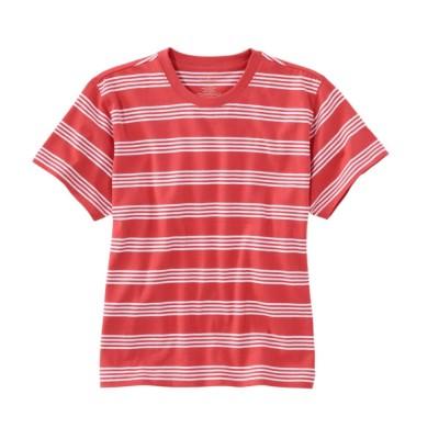 サタデーTシャツ、クルーネック ストライプ 半袖