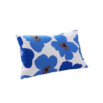 枕カバー(ピローケース) 単品1枚 43x63cm 色-フラワー柄ネイビー /寝具 まくらかばー マクラカバー 洗濯可