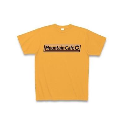 Mountain Cafe ロゴ(K) Tシャツ(コーラルオレンジ)