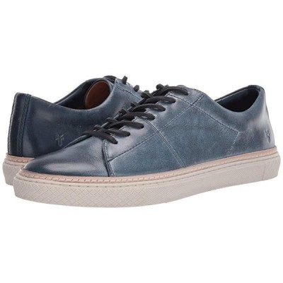 フライ Essex Low Folded Edge メンズ スニーカー 靴 シューズ Navy Waxed Antique Pull Up