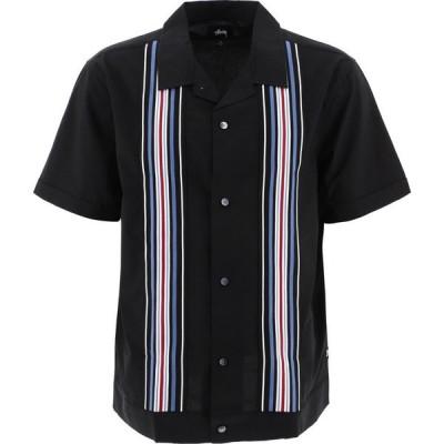 ステューシー Stussy メンズ 半袖シャツ トップス Striped Panels Shirt Black