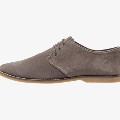 ピアワン メンズ 靴 シューズ LEATHER - Casual lace-ups - grey