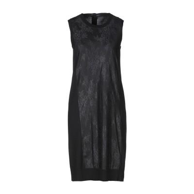 MM6 メゾン マルジェラ MM6 MAISON MARGIELA ミニワンピース&ドレス ブラック S ウール 100% / ポリエステル ミニワ