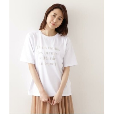 NATURAL BEAUTY BASIC/ナチュラルビューティーベーシック ニュアンスロゴTシャツ オフ1 M