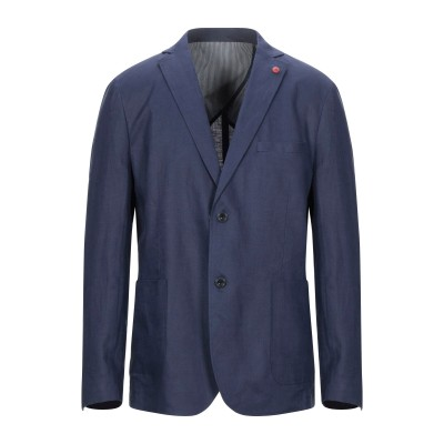 LIU •JO MAN テーラードジャケット ブルー 54 リネン 100% テーラードジャケット