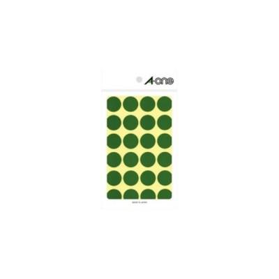 【メール便選択可】エーワン 7043 カラーラベル 丸型 20mmΦ 緑