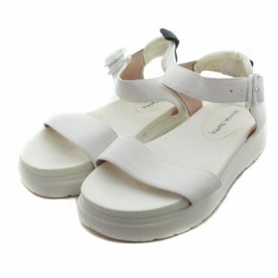 【中古】オリエンタルトラフィック サンダル ストラップ 厚底 M 白 ホワイト 靴 シューズ /MM レディース