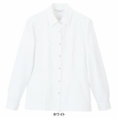 事務服・制服・オフィスウェア  ピエ B2611-01 長袖ブラウス 5号~15号