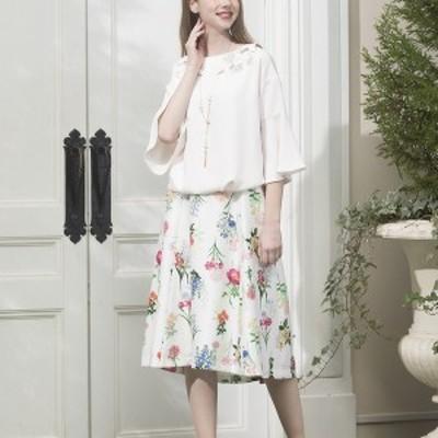 ローズティアラ(大きいサイズ)(Rose Tiara)/ボタニカルフラワーフィッシュテールスカート