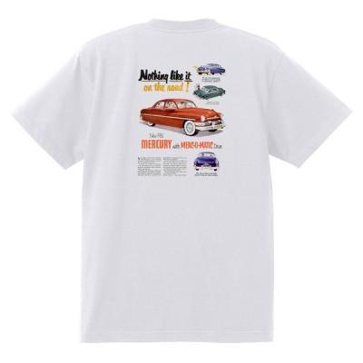 アドバタイジング マーキュリーTシャツ 白 1262 黒地へ変更可 レトロ 1951 レッドスレッド ホットロッド ロカビリー ボム