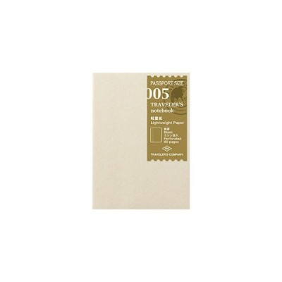 トラベラーズノート パスポートサイズ-リフィル005 軽量紙 14371006