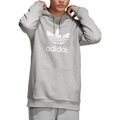 アディダス パーカー・スウェットシャツ アウター メンズ adidas Originals Men's Trefoil Hoodie Grey