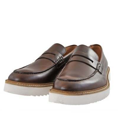 メンズ 靴 カジュアルシューズ クラークス 厚底 ローファー アーネストフリー ダークタンレザー Clarks26149707