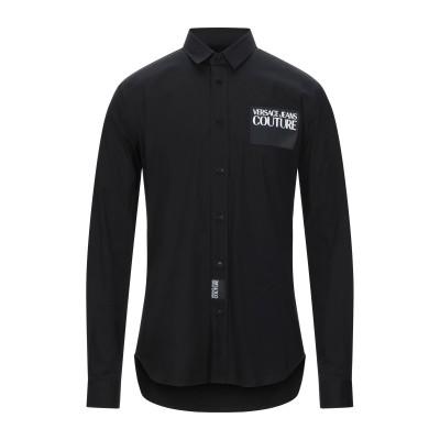 VERSACE JEANS COUTURE シャツ ブラック 56 コットン 97% / ポリウレタン 3% シャツ