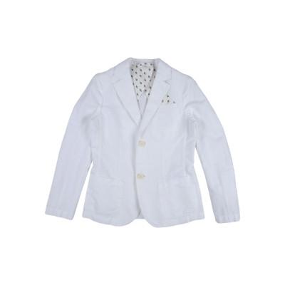 ARMANI JUNIOR テーラードジャケット ホワイト 11 コットン 60% / 麻 40% テーラードジャケット