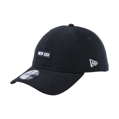 ニューエラ(NEW ERA) キャップ 9THIRTY ラバーロゴ Hex Tech NEW ERA ブラック × スノーホワイト 12540703 帽子 日よけ おしゃれ
