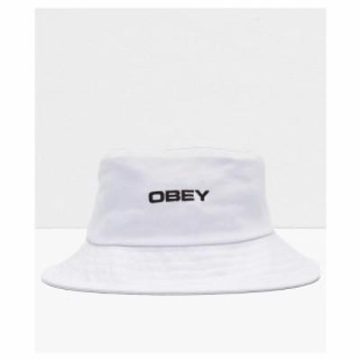 オベイ OBEY レディース ハット バケットハット 帽子 Obey Luna White Bucket Hat White